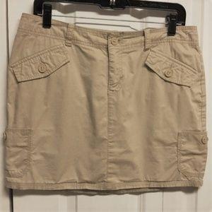 Gap Mini Skirt Size 6 Stretch Beige